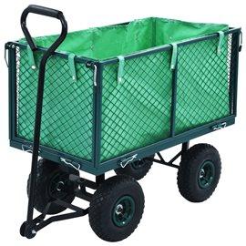 Carrito de mano de jardín verde 350 kg