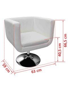 Taburetes de bar 2 unidades cuero artificial blanco
