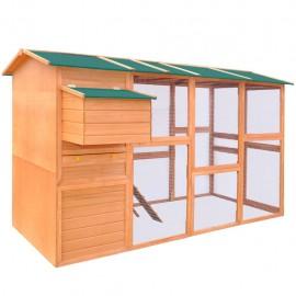 Gallinero de madera 295x163x170 cm