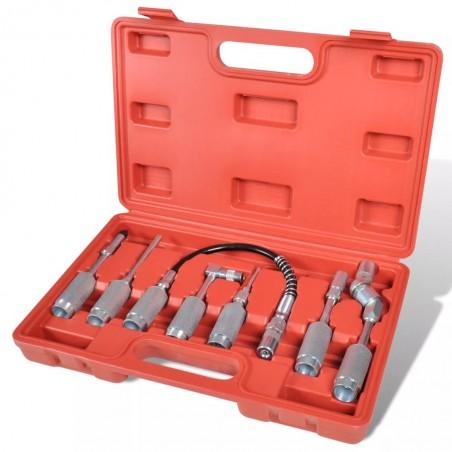 Kit de set de Pistola de grasa Adaptador de Surtida herramienta