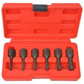 Juego de extractores de tornillos de acero 6 piezas