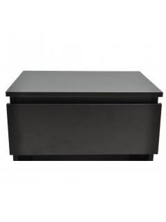 Mesitas de noche con un cajón negra 2 unidades