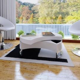 Mesa de centro moderna y ajustable negra con brillo