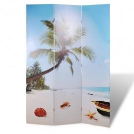 Biombo divisor plegable 120x170 cm playa