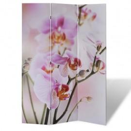 Biombo divisor plegable 120x170 cm flores