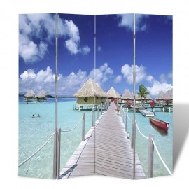 Biombo divisor plegable 160x170 cm playa