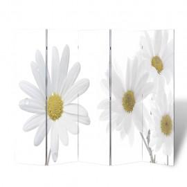 Biombo divisor plegable 200x170 cm flores