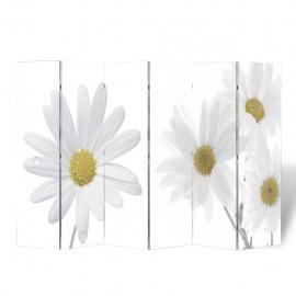 Biombo divisor plegable 240x170 cm flores