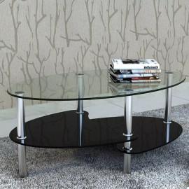 Mesa de centro de vidrio con diseño exclusivo negra