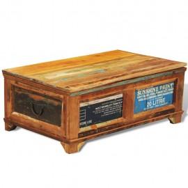 Mesa de centro vintage con almacenaje madera reciclada