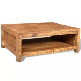 Mesa de centro de madera de mango maciza