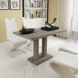 Mesa de salón comedor rectangular de MDF apariencia de roble