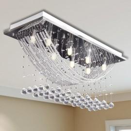 Lámpara de techo con lágrimas de cristal 8 x G9 29 cm