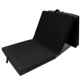 Colchón de espuma plegable 190 x 70 x 9 cm negro