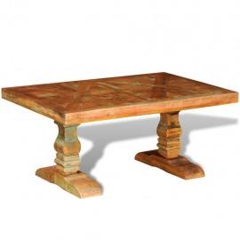 Mesa de centro rectangular de madera reciclada maciza