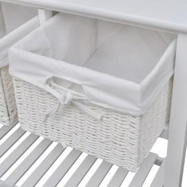 Aparador con cestas blanco
