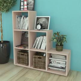 Estantería librería en forma de escalera 107 cm color roble