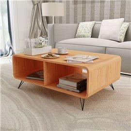 Mesa de centro 90x55,5x38,5 cm madera marrón