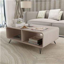 Mesa de centro 90x55,5x38,5 cm madera gris