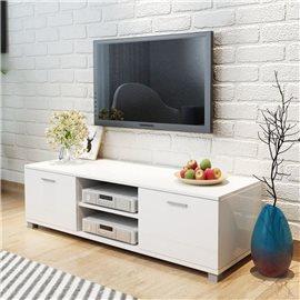 Aparador para TV alto brillo blanco 140x40,3x34,7 cm