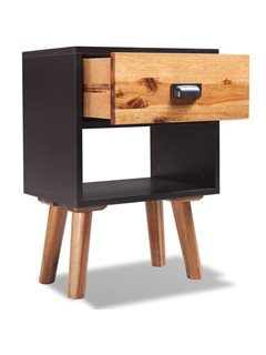 Mesitas de noche 2 uds de madera de acacia sólida 40x30x58 cm