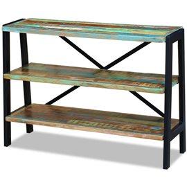 Aparador con 3 estantes de madera maciza reciclada