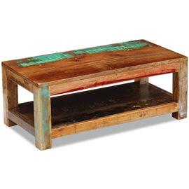 Mesa de centro de madera maciza reciclada 90x45x35 cm