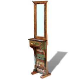 Espejo para pasillo madera maciza reciclada 47x23x180 cm