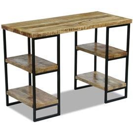 Escritorio de oficina madera de mango 110x50x76 cm