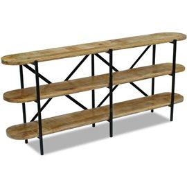 Aparador de madera de mango 180x30x76 cm