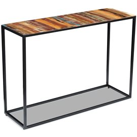 Mesa consola de madera maciza reciclada 110x35x76 cm