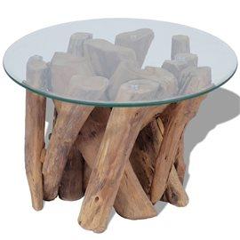 Mesa de centro teca sólida 60 cm