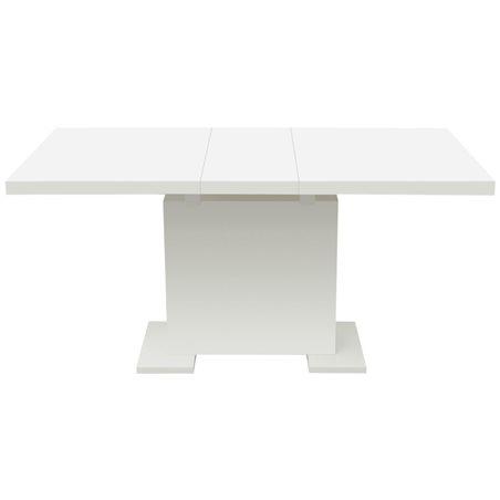 Mesa de comedor extensible blanco brillante