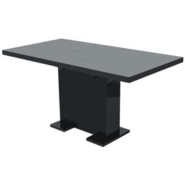 Mesa de comedor extensible negra brillante