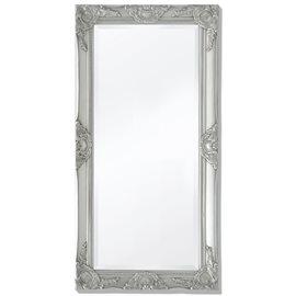 Espejo de pared estilo barroco 100x50 cm plateado