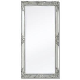 Espejo de pared estilo barroco 120x60 cm plateado