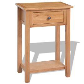 Mesa consola de madera de roble maciza 50x32x75 cm