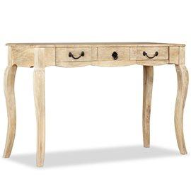Mesa consola de madera maciza de mango 120x50x80 cm