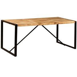 Mesa de comedor de madera maciza de mango rugosa 180 cm