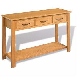 Mesa consola de madera de roble maciza 118x35x77 cm