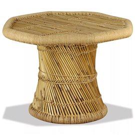 Mesa de centro octagonal bambú 60x60x45 cm