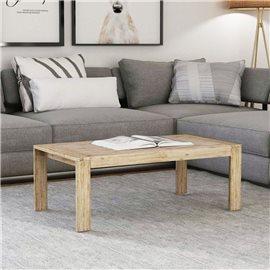 Mesa de centro de madera maciza de acacia cepillada 110x60x40 cm