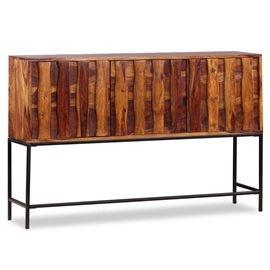 Aparador de madera maciza de sheesham 120x30x80 cm