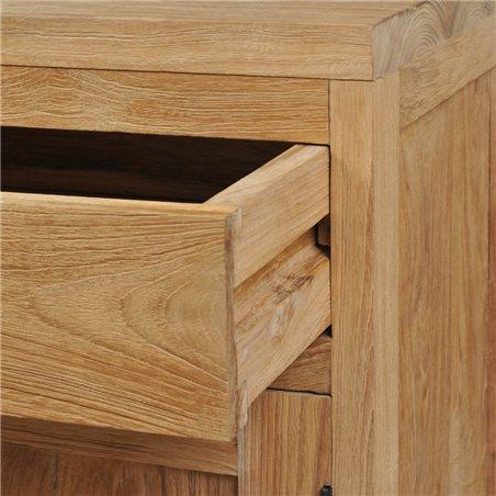Mesita de noche de madera de teca maciza 40x30x50 cm