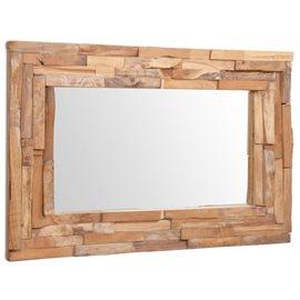 Espejo decorativo de teca 90x60 cm rectangular