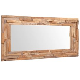 Espejo decorativo de teca 120x60 cm rectangular
