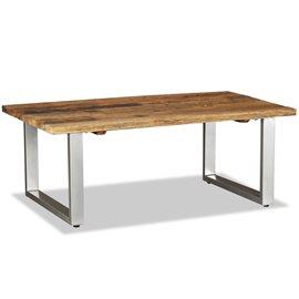Mesa de centro de madera maciza reciclada 100x60x38 cm