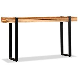 Mesa consola de madera maciza reciclada ajustable