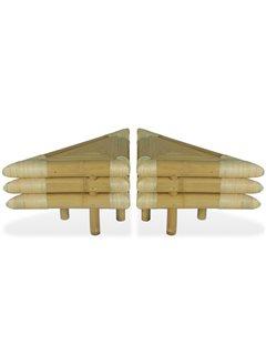 Mesitas de noche de bambú natural 2 unidades 60x60x40 cm