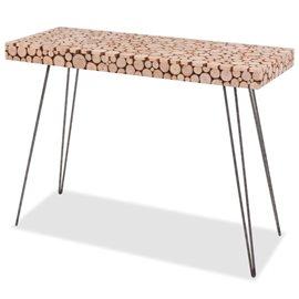 Mesa consola de madera genuina 100,5x36,8x75 cm